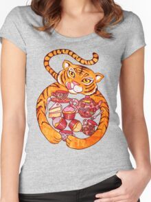 The Tiger Who Came To Tee Women's Fitted Scoop T-Shirt