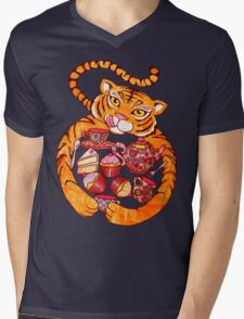 The Tiger Who Came To Tee Mens V-Neck T-Shirt