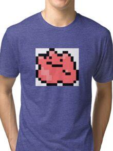 Pokemon 8-Bit Pixel Ditto 132 Tri-blend T-Shirt