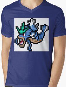 Pokemon 8-Bit Pixel Gyarados 130 Mens V-Neck T-Shirt