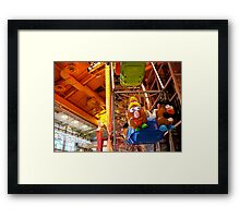 Mr and Mrs Potato Head Framed Print