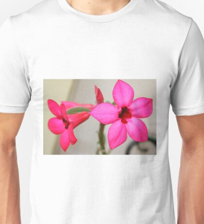 Twin Pink Tropical Floras  Unisex T-Shirt