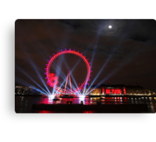 London Eye Full Moon Canvas Print