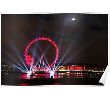 London Eye Full Moon Poster