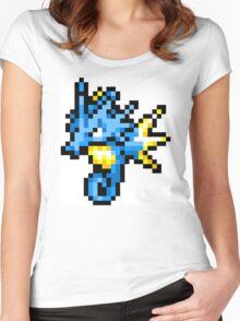 Pokemon 8-Bit Pixel Seadra 117 Women's Fitted Scoop T-Shirt