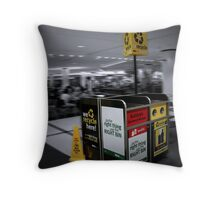 The Green Foodcourt Project Throw Pillow
