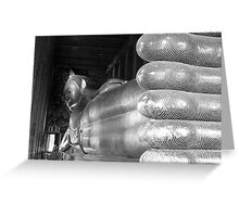 Sleeping Buddha-BW Greeting Card