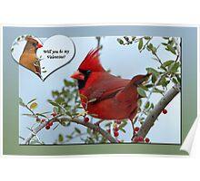 Cardinal Valentine Poster