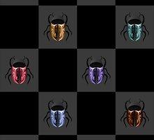Tattooed scarab beetles by vo1234