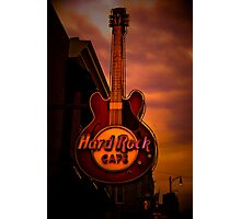 Hard Rock in the City of Blues Photographic Print