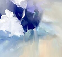White and blue flowers by Anivad - Davina Nicholas