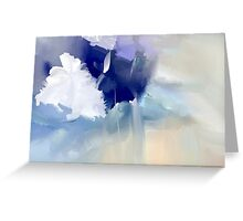 White and blue flowers Greeting Card