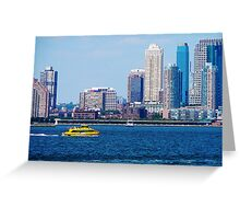 New York Water Taxi Greeting Card