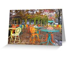 Autumn on the Terrace Greeting Card