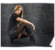 A girl posing Poster