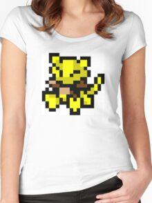 Pokemon 8-Bit Pixel Abra 063 Women's Fitted Scoop T-Shirt