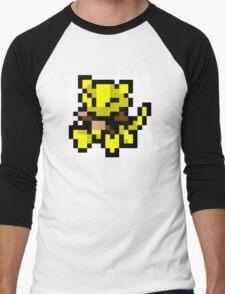 Pokemon 8-Bit Pixel Abra 063 Men's Baseball ¾ T-Shirt