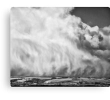 Flying on the edge of the storm Canvas Print
