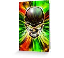Crystal Skull on Psychedelic Flames Greeting Card