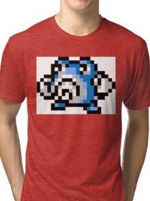Pokemon 8-Bit Pixel Poliwhirl 061 Tri-blend T-Shirt