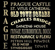 Prague Famous Landmarks by Patricia Lintner