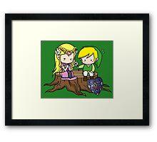Zelda X Link Framed Print
