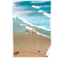 Surfing in Small Big Ocean Poster