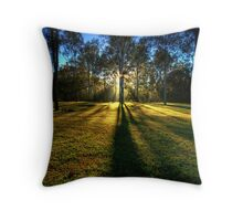 Waking up in the forest Throw Pillow