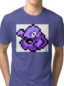Pokemon 8-Bit Pixel Grimer 088 Tri-blend T-Shirt
