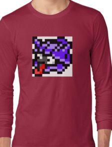 Pokemon 8-Bit Pixel Shellder 090 Long Sleeve T-Shirt