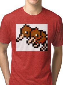 Pokemon 8-Bit Pixel Doduo 084 Tri-blend T-Shirt