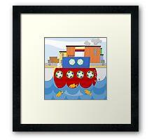 SHIP (AQUATIC VEHICLE) Framed Print
