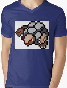 Pokemon 8-Bit Pixel Golem 076 Mens V-Neck T-Shirt
