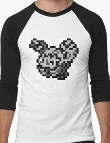 Pokemon 8-Bit Pixel Graveler 075 Men's Baseball ¾ T-Shirt