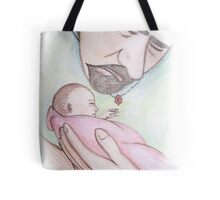 A Father's First Embrace Tote Bag