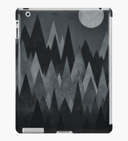 Dark Mystery Abstract Geometric Triangle Peak Wood's (black & white) iPad Case/Skin