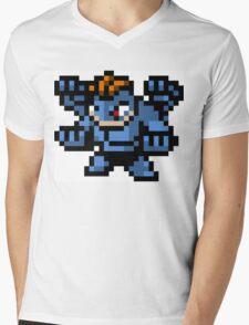 Pokemon 8-Bit Pixel Machamp 068 Mens V-Neck T-Shirt
