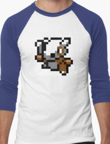 Pokemon 8-Bit Pixel Cubone 104 Men's Baseball ¾ T-Shirt