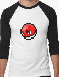 Pokemon 8-Bit Pixel Voltorb 100 Men's Baseball ¾ T-Shirt