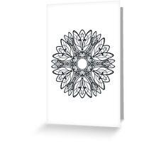 Abstract circular pattern of mandala Greeting Card
