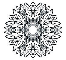 Abstract circular pattern of mandala Photographic Print