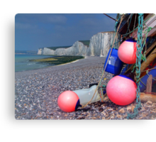 Fishing Floats - Birling Gap - East Sussex Canvas Print