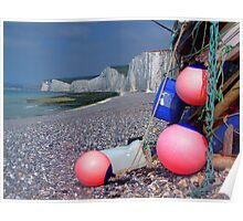 Fishing Floats - Birling Gap - East Sussex Poster