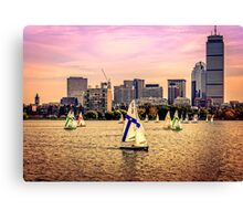 Sails, Boston, MA, USA Canvas Print