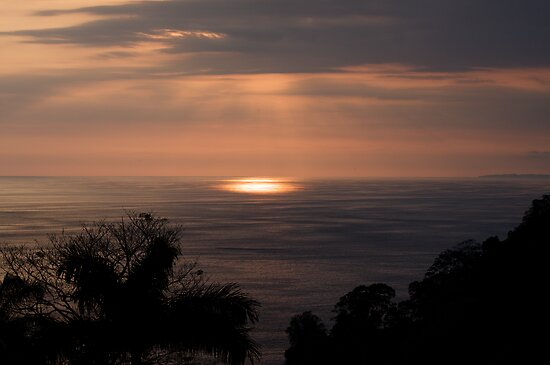 sunset in costa rica by Heather White