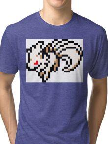 Pokemon 8-Bit Pixel Ninetails 038 Tri-blend T-Shirt