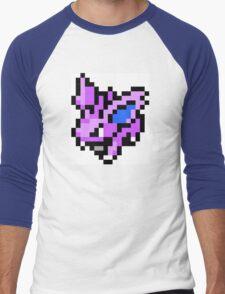 Pokemon 8-Bit Pixel Nidoran 032 Male Men's Baseball ¾ T-Shirt