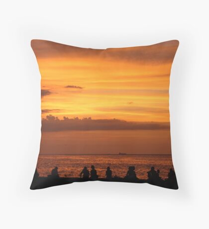 Malecon Sunset (Cuba) Throw Pillow