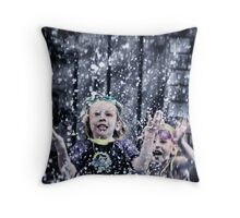 Water nymphs Throw Pillow