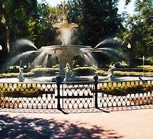 Forsyth Park Fountain - Savannah - Ga by Barry  Jones